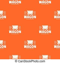laranja, vagão, vetorial, padrão