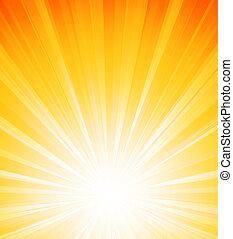 laranja, verão, estouro sol, luz