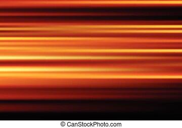 laranja, vetorial, abstratos, velocidade, borrão moção, de, noturna, luzes, cidade, exposição longa, fundo