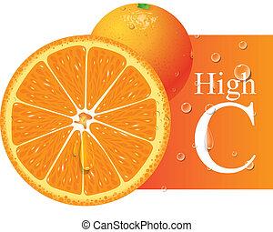laranja, vetorial