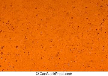 laranja, vidro, fundo