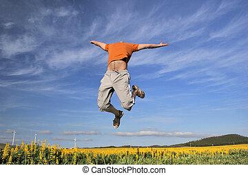 laranja, voador