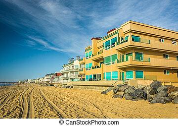 lares, california., imperial, beachfront, praia
