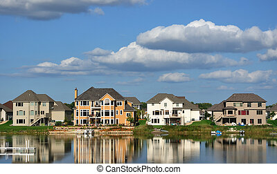lares, suburbano, executivo, lago