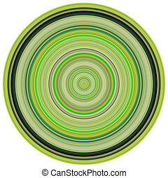 large 3d render concentric pipes in multiple green colors