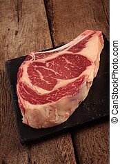 aged beef rib steak - large aged beef rib steak