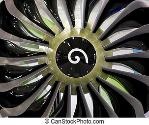 engine blades - Large airplane turbofan engine blades