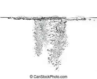 large amount of air bubbles in water