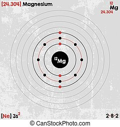 Diagram representation of the element magnesium illustration vector large and detailed infographic of the element of magnesium ccuart Choice Image