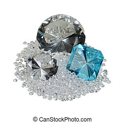 Large and Small Diamonds and Gem - Large and small diamonds...