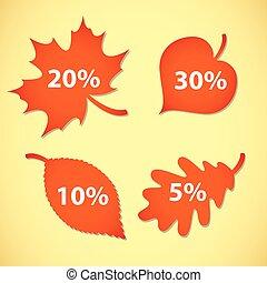 Large Autumn sale. Vector illustrat