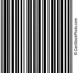 Large Barcode Background Macro Closeup, Isolated On White