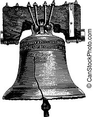 Large bell engraving