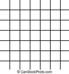 Large Black Grid on White - black grid on white