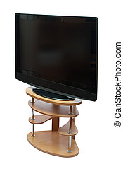 Large black widescreen TV