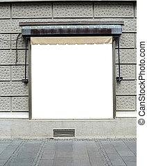 Large blank billboard in city center