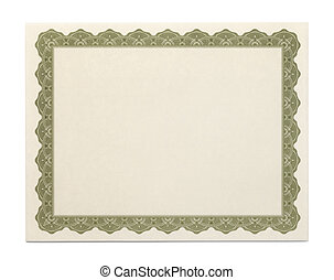 Large Blank Certificate - Large Cartificate with Copy Space...