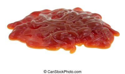 Large blob of ketchup mess - Video of a large blob of...