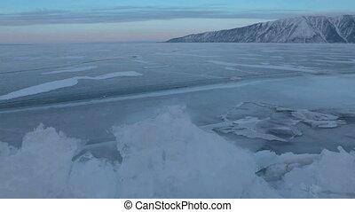 Large blocks of ice crack near Holy Nose Peninsula.