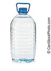 Large bottle of soda water. Isolated on white background