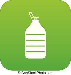 Large bottle of water icon digital green