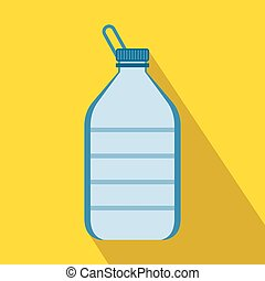 Large bottle of water icon, flat style