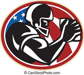 large, boule football américain, récepteur