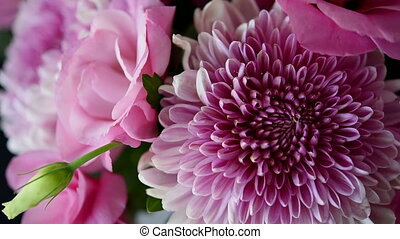 bouquet of pink chrysanthemums and eustoma - Large bouquet...