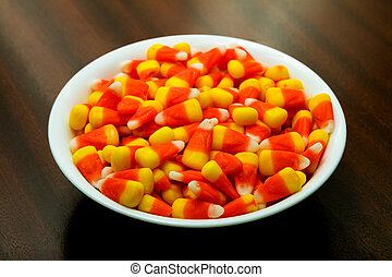 Large bowl of candy corn