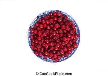 Large bowl of cherries