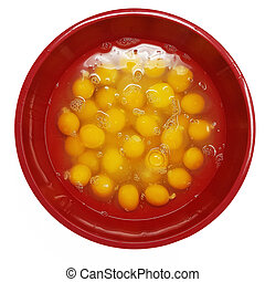 Large Bowl of Cracked Eggs