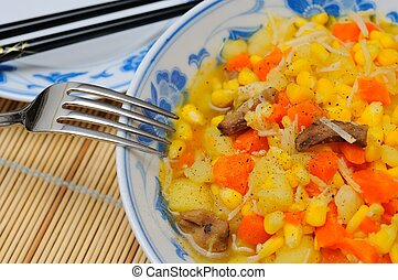 Large bowl of simple potato cuisine