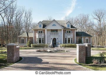 Large brick home