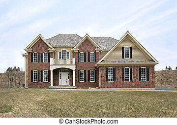 Large brick home