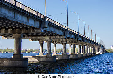 Large bridge over the river