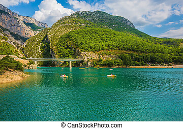 Large bridge over the  river Verdon