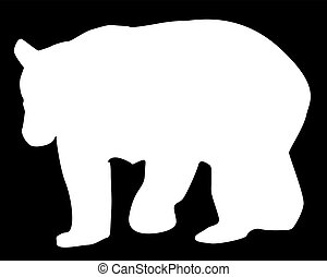 Large Brown Bear Silhouette