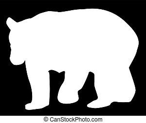 Large Brown Bear Silhouette