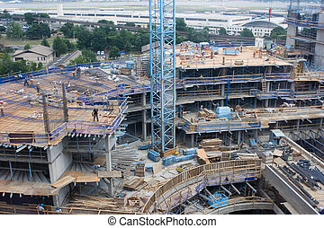 Construction Site - Large Building being Developed at a...