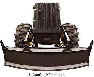 large, bulldozer, angle, photo