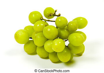 large bunch of ripe green juicy seedless grapes