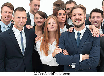 large business team of professionals.