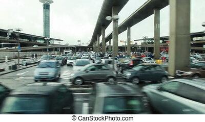 Large car parking at airport
