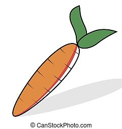 Large Carrot Drawing