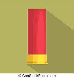 Large cartridge icon, flat style