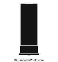 Large cartridge icon, simple style