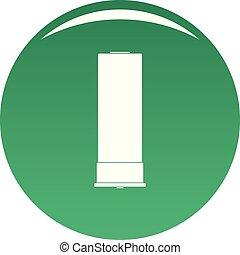 Large cartridge icon vector green