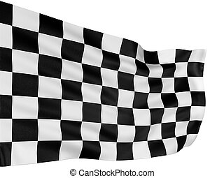 Checkered Flag - Large Checkered Flag with fabric surface ...