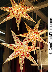 large Christmas star as decor in the House