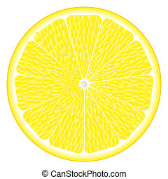 large circle of lemon